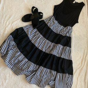 Stripe Block Skirt